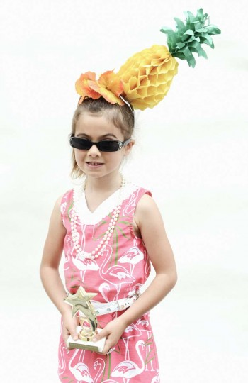Honfest — June 8, 2013: Katie Jordan, 4, of Washington D.C., and her pineapple won a trophy at Honfest. (J.M. Giordano for The Baltimore Sun)
