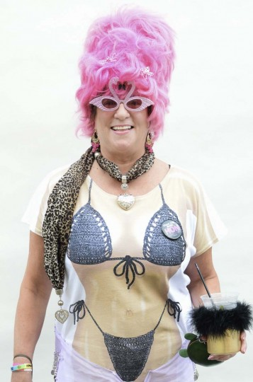 Honfest — June 8, 2013: Kathy Paulin, 55, of Pittsburgh, Pa., got into the Baltimore spirit at Honfest. (J.M. Giordano for The Baltimore Sun)