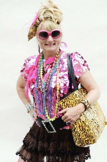 "Honfest — June 8, 2013: Lori Obrock, 55 of Enola, Pa., dressed to the ""nines"" at Honfest. (J.M. Giordano for The Baltimore Sun)"
