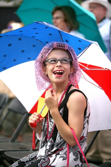 Ali Cataggio of Aberdeen has a good time at Honfest 2011. (Joe Soriero/Baltimore Sun)