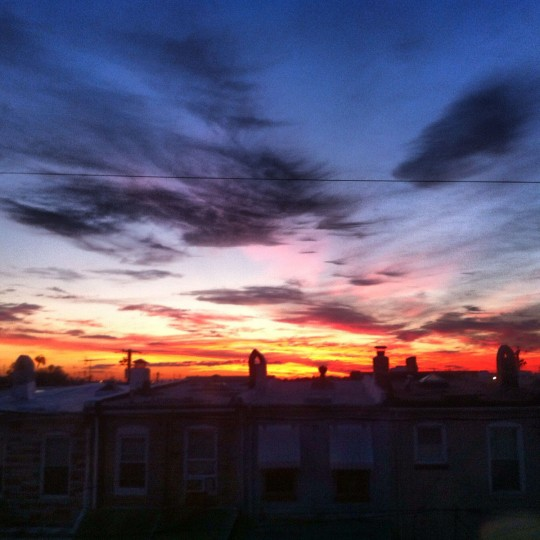 """Baltimore sunrise"" - near Patterson Park, September 16, 2012 (Nick Tann/Baltimore Sun)"