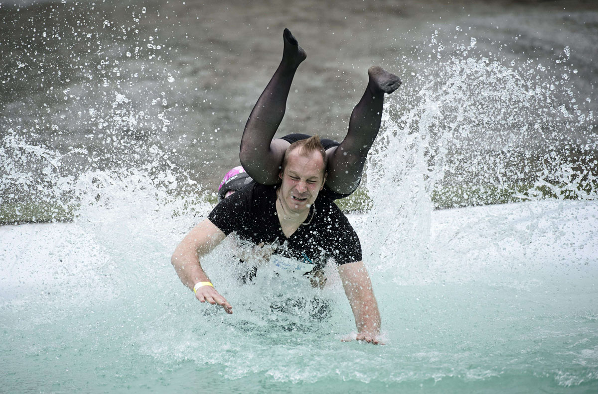 Wife-Carrying World Championships competes for weirdest summer game