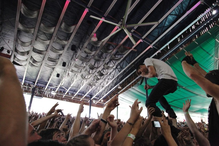 Vans Warped Tour 2013: We Came as Romans performed July 10 at Merriweather Post Pavilion. (Credit: Kaitlin Newman)