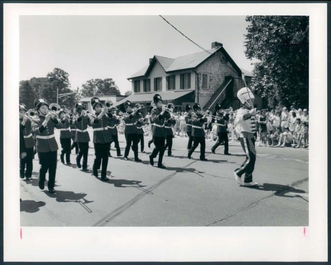 1990: A band at the start of the July 4th Catonsville parade. (Kenneth K. Lam/Baltimore Sun)
