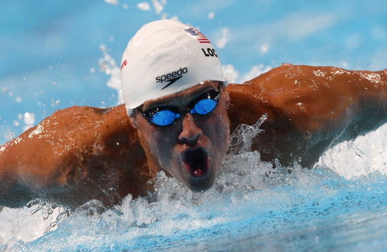 US swimmer Ryan Lochte competes in the heats of the men's 200-metre individual medley swimming event in the FINA World Championships at Palau Sant Jordi in Barcelona. (Pierre-Philippe Marcou/Getty Images)