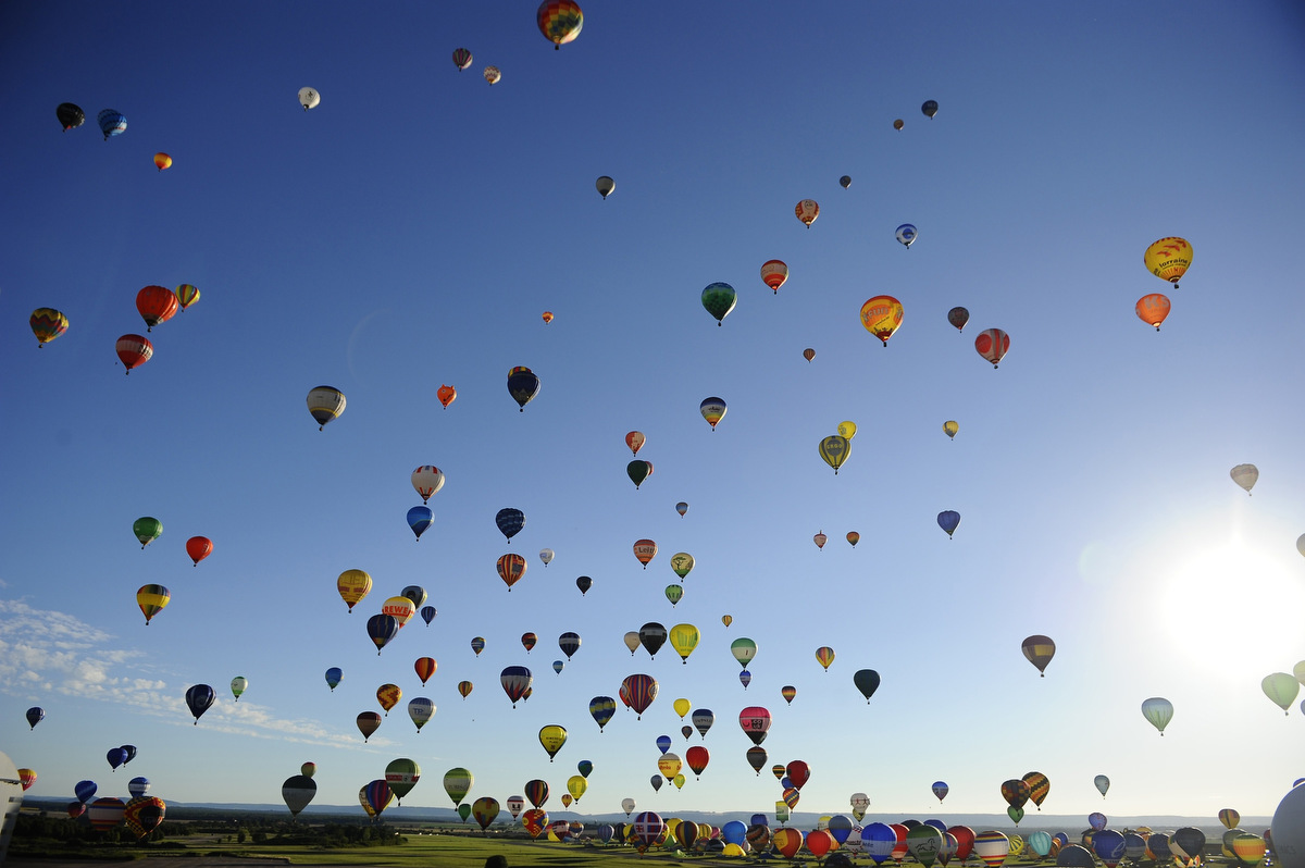 "Balloons fill the sky at ""Lorraine Mondial Air Ballons"""