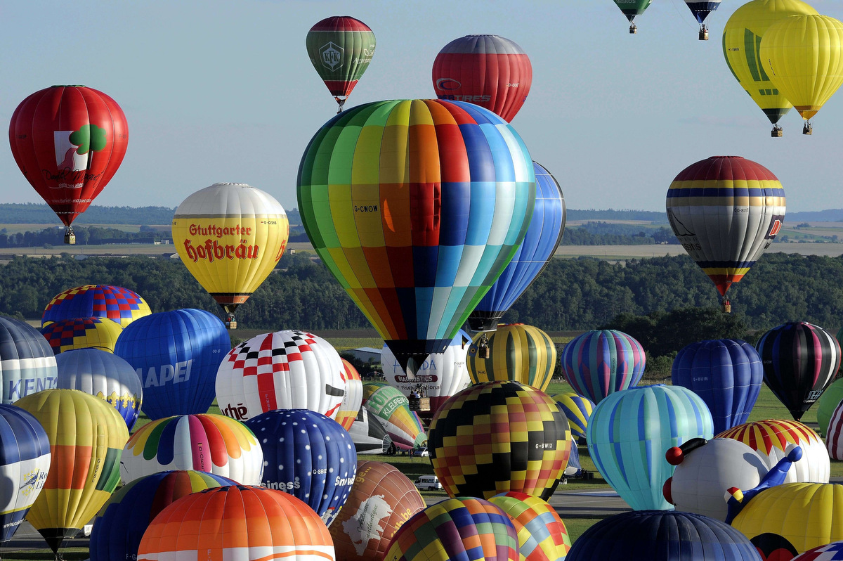 "Balloons fill the sky at ""Lorraine Mondial Air Ballons"""