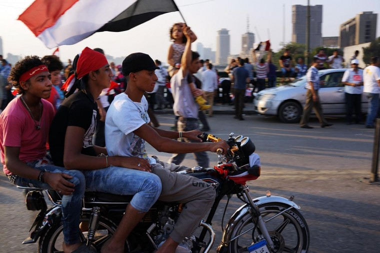 Thousands of Egyptian protesters celebrate in Tahrir Square as the deadline given by the military to Egyptian President Mohammed Morsi passes on July 3, 2013 in Cairo. (Spencer Platt/Getty Images)