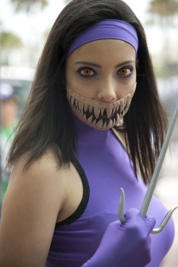 Attendee Jacqueline Barker portrays the character Mileenathe from the Mortal Kombat series of fighting video games at the Comic-Con International 2013 at the San Diego Convention Center in San Diego California July 19, 2013. Comic-Con is a four-day geekfest of pop culture attended by some 130,000 devotees of comic books, movies and TV shows -- many dressed up in the costumes of their idols. (Robyn Beck/AFP/Getty Images)