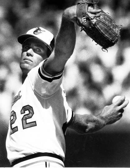 Orioles pitcher Jim Palmer delivers during a 1984 game in Baltimore. (Gene Sweeney, Jr./Baltimore Sun)