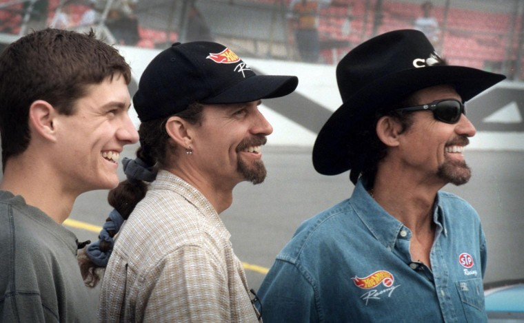 Adam Petty, left, was the fourth generation of the Petty family that was racing in NASCAR. In 1999, when this photo was taken, it was widely held that the Pettys were the first family to have four generations participating in the same sport. In the center is Kyle Petty, Adam's father; to the right is Richard Petty, Kyle's father. Lee Petty, the father of Richard, no longer went to the races when this photo was taken, but he started the family's link to NASCAR (Gene Sweeney, Jr./Baltimore Sun)