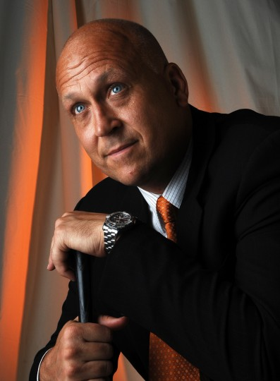 Former Orioles shortstop and third baseman Cal Ripken Jr. sits for a studio shot for a special section to commemorate his induction into the Hall of Fame. (Gene Sweeney, Jr./Baltimore Sun)