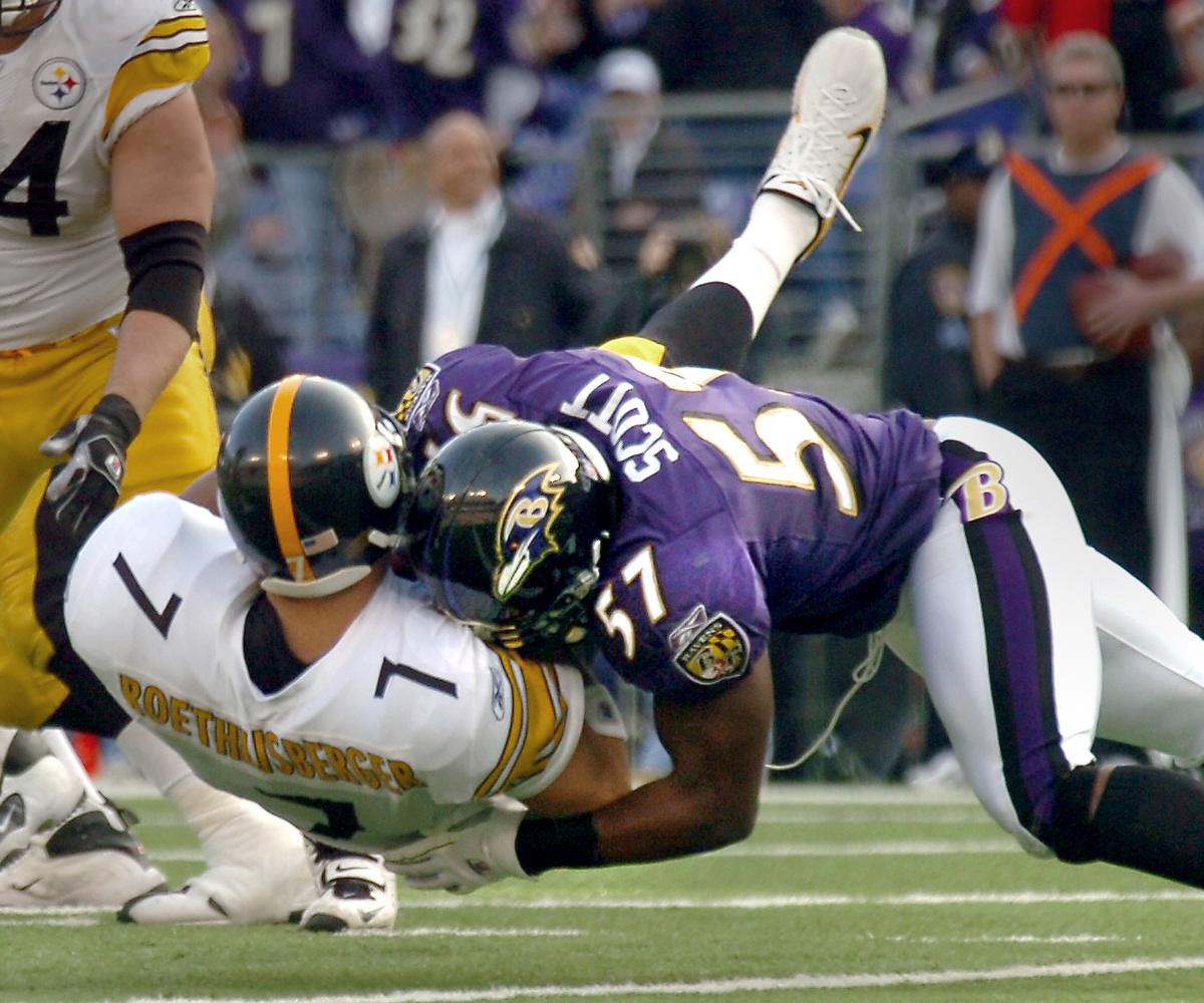 Ray Lewis Football Hits: Ravens Linebacker Bart Scott Levels Ben Roethlisberger