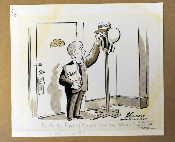 1984 political cartoon about William Donald Schaefer. (Lloyd Fox/Baltimore Sun)