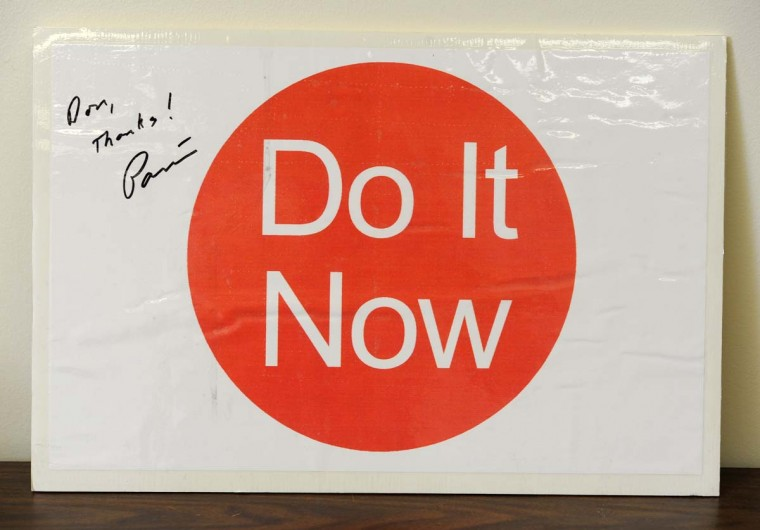 Do It Now was then-Mayor William Donald Schaefer's motto for Baltimore city employees. (Lloyd Fox/Baltimore Sun)