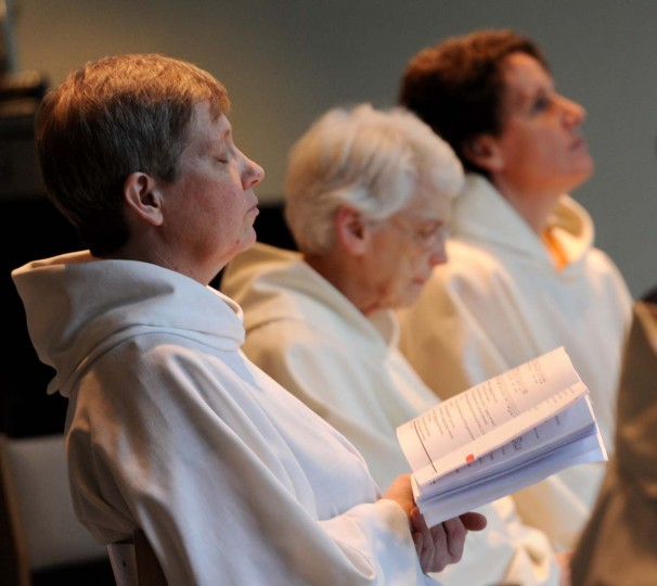 Sr. Leah Hargis (left) and other Carmelite nuns are shown during Vespers, the sunset evening prayer service. (Kim Hairston/Baltimore Sun Photo)