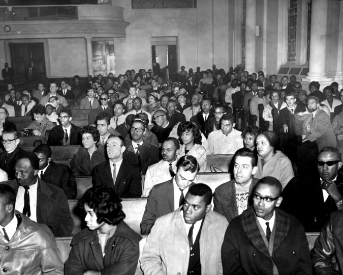 1961: Students meet at Cornerstone Baptist Church to protest discrimination in Baltimore. (Walter McCardell/Baltimore Sun)