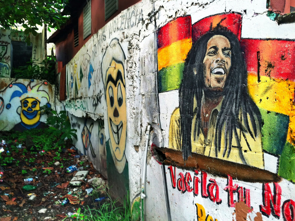 Old san juan for Bob marley wall mural