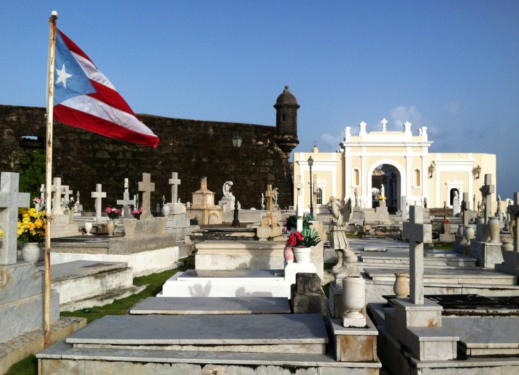The famous Santa Mar'ia Magdalena de Pazzis Cemetery is located on the Atlantic coast east of El Morro Fort. The colonial-era cemetery is where some of Puerto Rico's most famous residents are buried. (Robert K. Hamilton/Baltimore Sun)