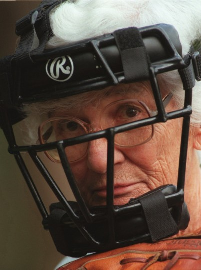 Shown on Aug. 18, 1997, Janet Hull, 79, formed a senior women's softball league in Anne Arundel County so she didn't have to drive to Virginia to play. (Gene Sweeney, Jr./Baltimore Sun)