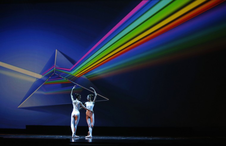 "Dancers perform in ""Dance Dialogue"" by the Young Actors and Dancers Association (YADA) Dance Company and the College of Dance at the Mediterranean Conference Centre in Valletta. (Darrin Zammit Lupi/Reuters photo)"