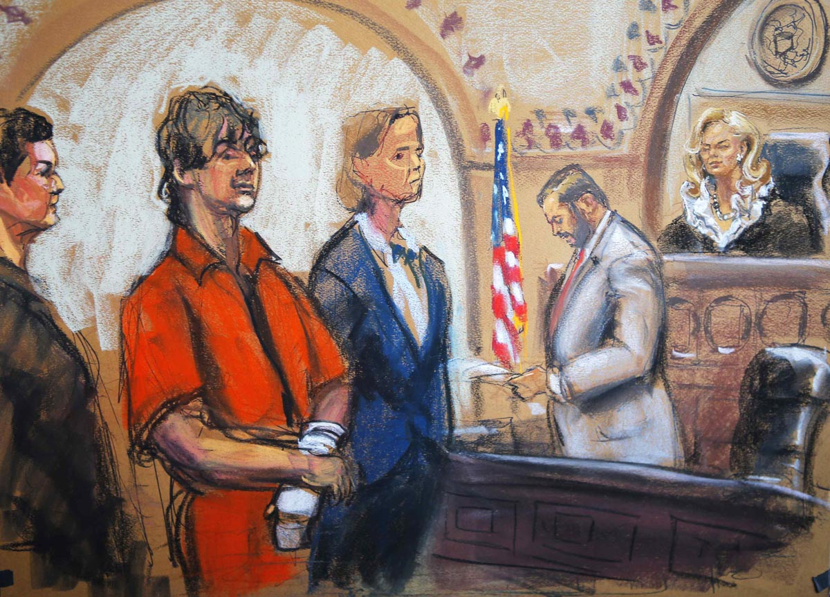 Court sketches from Boston bomber case, high-profile trials in 2013