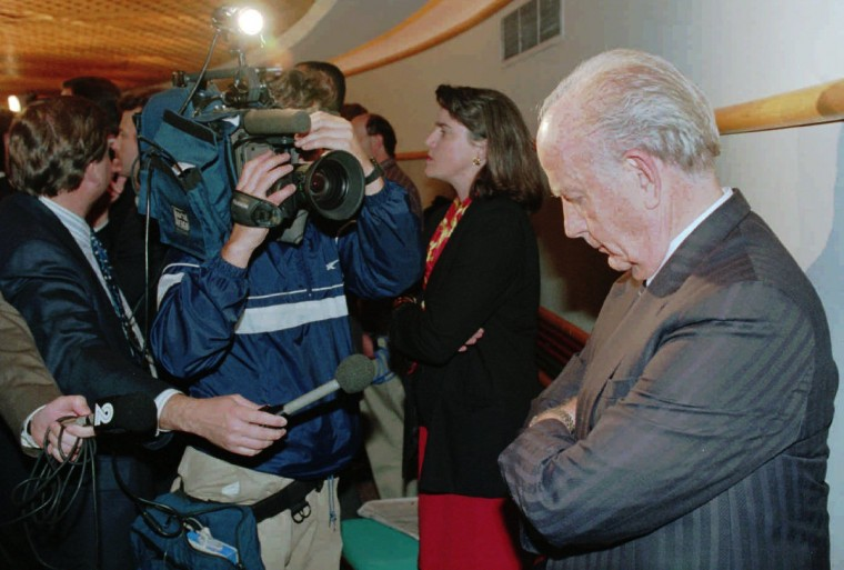 On Oct. 26, 1993, Gov. William Donald Schaefer looked dismayed during the announcement by the NFL that only Charlotte will get an expansion team. The other four cities waited until Nov. 30 to learn the second city to get a team, which ultimately was Jacksonville and not Baltimore. (Gene Sweeney, Jr./Baltimore Sun)