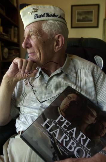 Hugh M. Roper, a past president of the Pearl Harbor Survivors Association, reflected on the Sept. 11, 2001 terrorist attacks. (Gene Sweeney, Jr./Baltimore Sun)