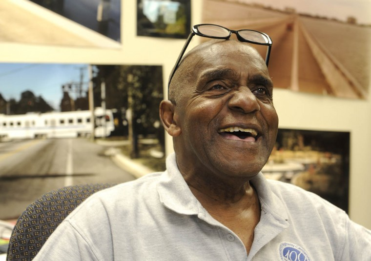 This is Timothy G. Hyman, staff photographer for the Maryland State Highway Administration, who has been on the job, without taking a sick day, for over 64 years. He is the longest-serving state employee. (Barbara Haddock Taylor/Baltimore Sun)