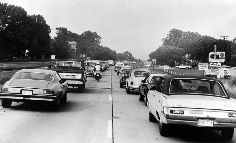 This is a 1970s era photograph of Route 29. (Timothy G. Hyman/Maryland State Highway Administration)