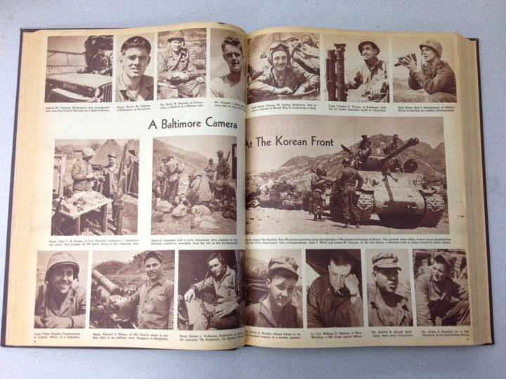 Photo spread from the Korean War inside The Sunday Sun Magazine August 19, 1951 issue.