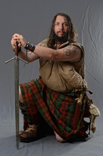 Thomas Kerr the Wild Clansman poses stating if he was not at the Edinburgh Fringe Festival he would be doing creative arts on August 6, 2013 in Edinburgh, Scotland. (Jeff J Mitchell/Getty Images)