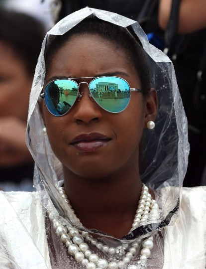 "The Lincoln Memorial is reflected in the glasses of Christina Bostik during the ""Let Freedom Ring"" ceremony to commemorate the 50th anniversary of the March on Washington for Jobs and Freedom August 28, 2013 in Washington. It was 50 years ago today that Martin Luther King, Jr. delivered his ""I Have A Dream Speech"" on the steps of the Lincoln Memorial. (Mark Wilson/Getty Images)"