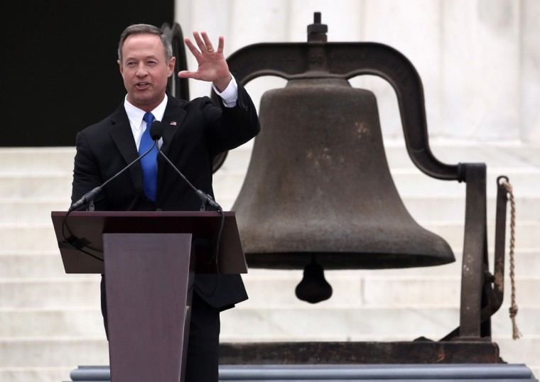 Maryland Gov. Martin O'Malley speaks during the Let Freedom Ring ceremony at the Lincoln Memorial August 28, 2013 in Washington, DC. (Alex Wong/Getty Images)