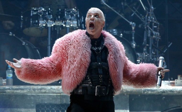 Til Lindemann of German rock bank Rammstein performs on stage during heavy metal Wacken Open Air (WOA) Festival 2013 in Wacken, northern Germany on August 1, 2013. (Axel Heimken/Getty Images)