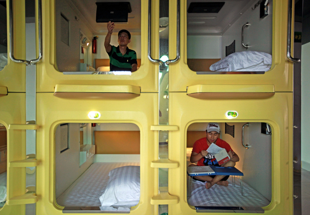 China's capsule hotel: A room with no view
