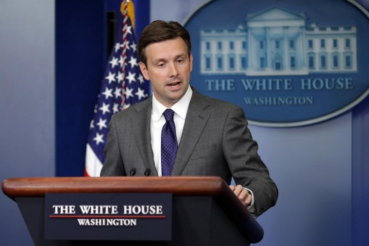 White House Principal Deputy Press Secretary Josh Earnest answers questions during the daily media briefing in the Brady Press Briefing Room at the White House August 29, 2013 in Washington, DC. Earnest fielded questions from reporters about the Obama Administration's stance and response to the alleged use of chemical weapons in Syria. (Chip Somodevilla/Getty Images)