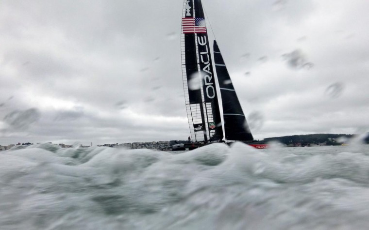 Oracle Team USA trains for September's America's Cup regatta on August 7, 2013, in San Francisco. (Noah Berger/AFP/Getty Images)