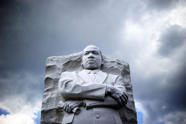 The statue of Martin Luther King Jr. is pictured at a memorial on August 24, 2103, in Washington, DC, as thousands of people gather to commemorate the 50th anniversary of The March on Washington. (Jewel Samad/AFP/Getty Images)
