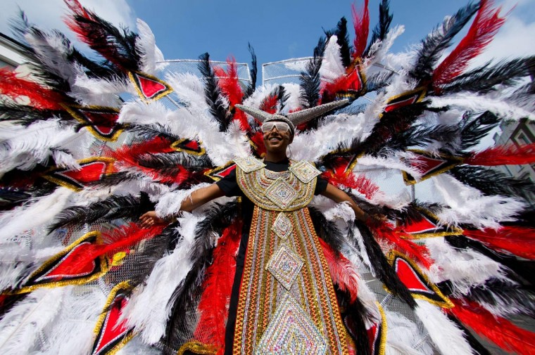Children prepare to take part in a parade on the first day of the Notting Hill Carnival in west London on August 25, 2013. (Leon Neal/AFP/Getty Images)