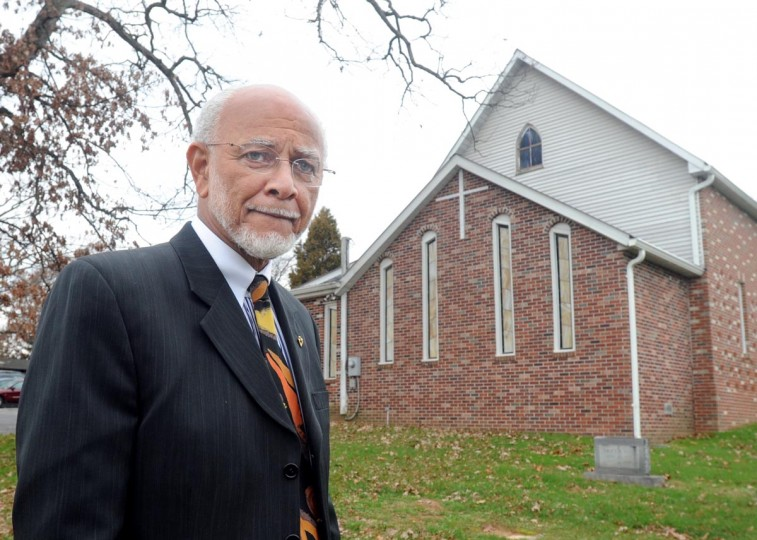 "Rev. Douglas Sands is the pastor of the church White Rock, one of the oldest African-American churches in Carroll County. Sands attended the March on Washington fifty years ago. ""To see so many people of all ages and races coming together so peacefully – that was much bigger and better than any of us expected,"" recalls Sands. (Algerina Perna/Baltimore Sun)"