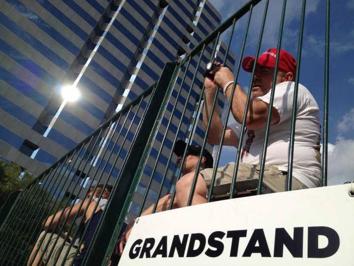 Rob and Doris Beinert of Waldorf watch the racing during the first day of the 2013 Grand Prix of Baltimore. (Karl Merton Ferron/Baltimore Sun)