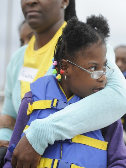 Madison Williams, 6, and several other students from the William S. Baer School in Baltimore enjoyed a ride aboard the skipjack Sigsbee, which is part of the Living Classrooms Foundation. The children are participating in the Bay Buddies summer camp program. (Barbara Haddock Taylor/Baltimore Sun)