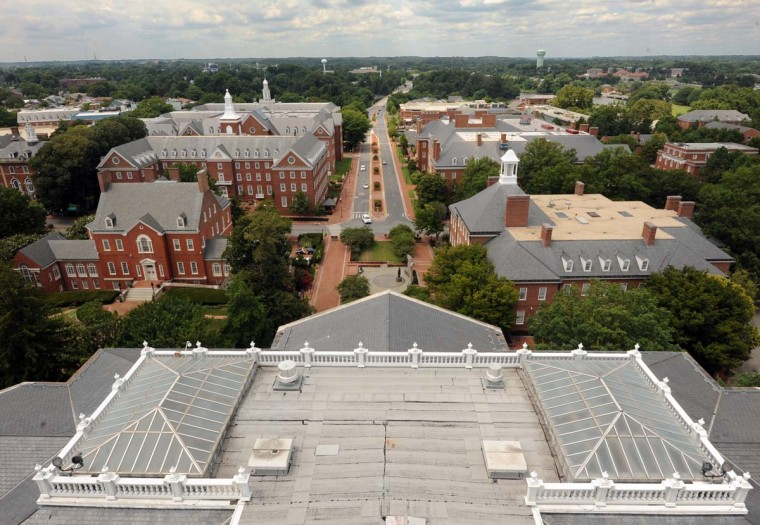 Annapolis government buildings are seen from the top of the Maryland State House. Algerina Perna/Baltimore Sun
