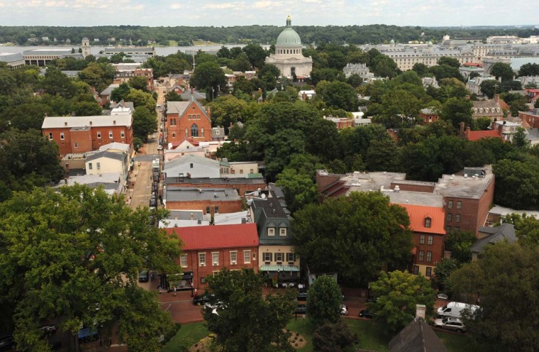 Thomas Jefferson and James Madison spent three hours atop the newly finished dome, reportedly looking at the houses and gossiping with a local about the people who lived inside them. Algerina Perna/Baltimore Sun