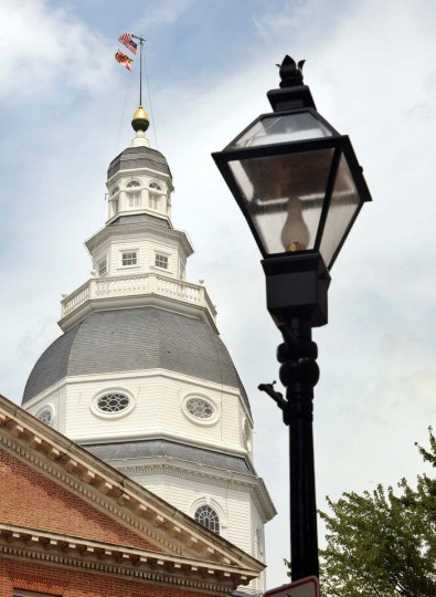 This State House dome was designed by colonial architect and Annapolitan Joseph Clark. It is the second dome on the State House. Algerina Perna/Baltimore Sun