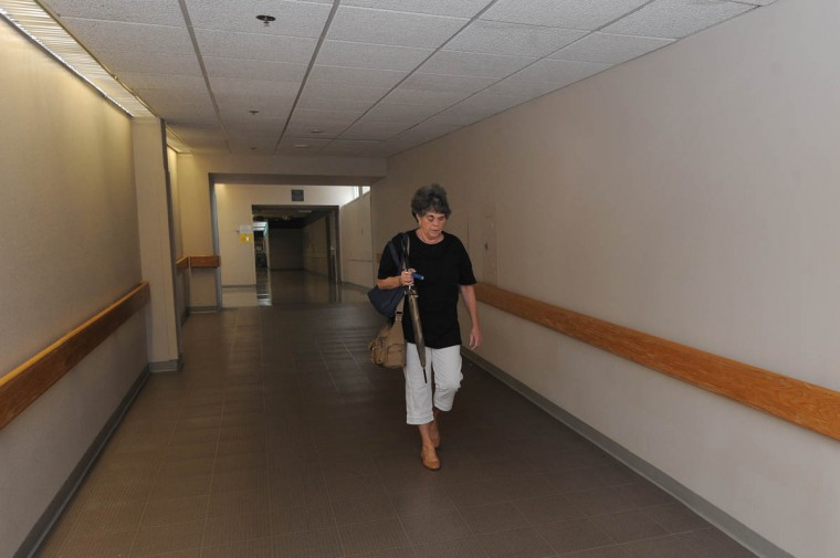 Linda Hershey, RN, leaves Lancaster Regional Medical Center for the day after working at her job as an OR nurse. (Algerina Perna/Baltimore Sun/June 6, 2013)