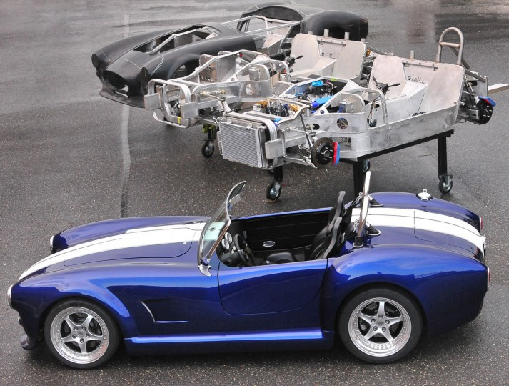Shown are the three basic stages of the 427 Roadster, then the completed car. (Gene Sweeney, Jr./Baltimore Sun)