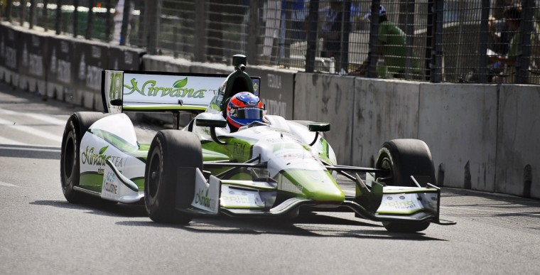 Stefan Wilson drives the #18 Indycar during a practice session at the Grand Prix of Baltimore. (Kenneth K. Lam/Baltimore Sun)