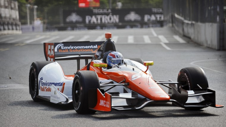 Indycar rookie driver Tristan Vautier practice on the street of Baltimore during the Grand Prix of Baltimore. (Kenneth K. Lam/Baltimore Sun)